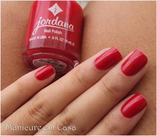 Jordana Hot Red nail polish