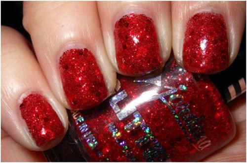 Jordana Red Flash nail polish