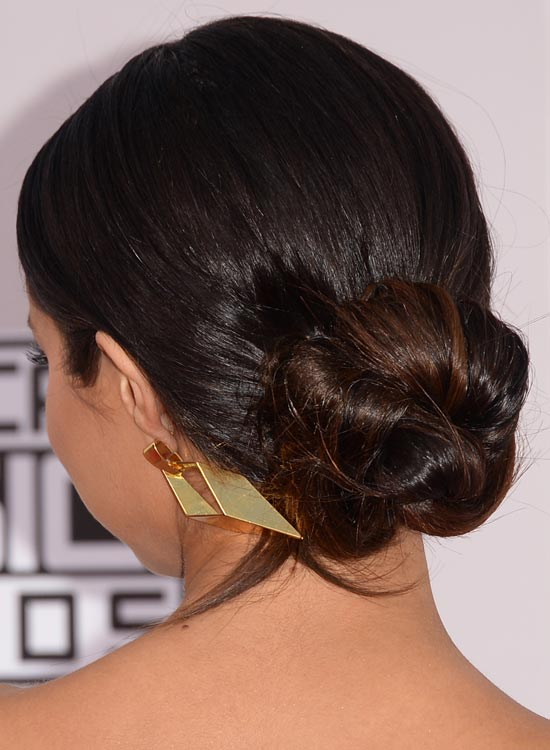 Simple-Low-Twisted-Bun-with-Slicked-Back-Finish