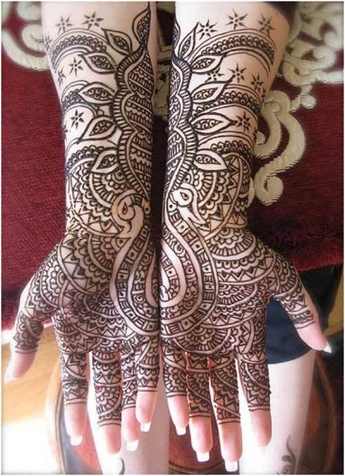 bridal arabic mehndi design