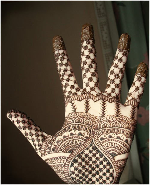 mehindi design for left heand