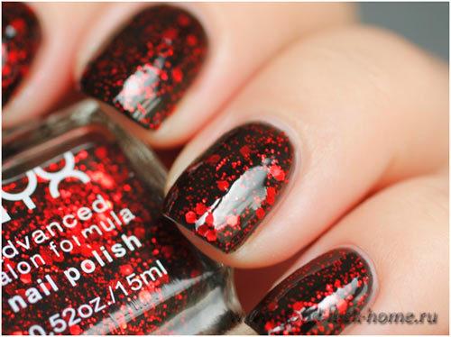 nyx dark glitter polish