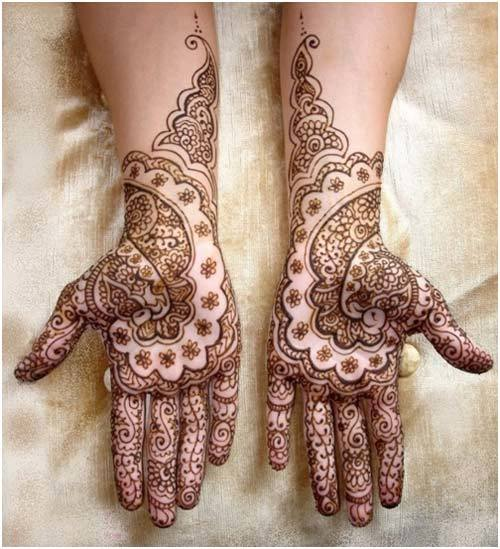 perfect mehndi design for hands