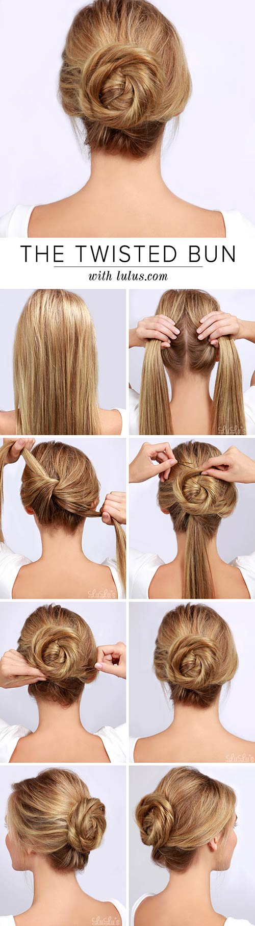 20 Awesome Hairstyles For Girls With Long Hair. 1. Twisted Bun