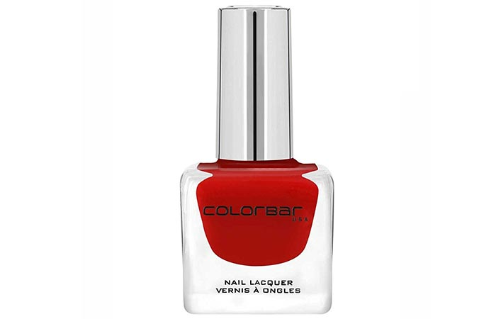 Best Nail Polish For Dark Skin - 3. Colorbar Luxe Nail Lacquer, Red Enigma