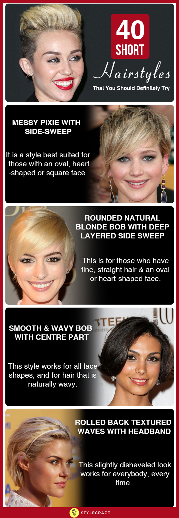 40 Short hairstyles that you should definetly try