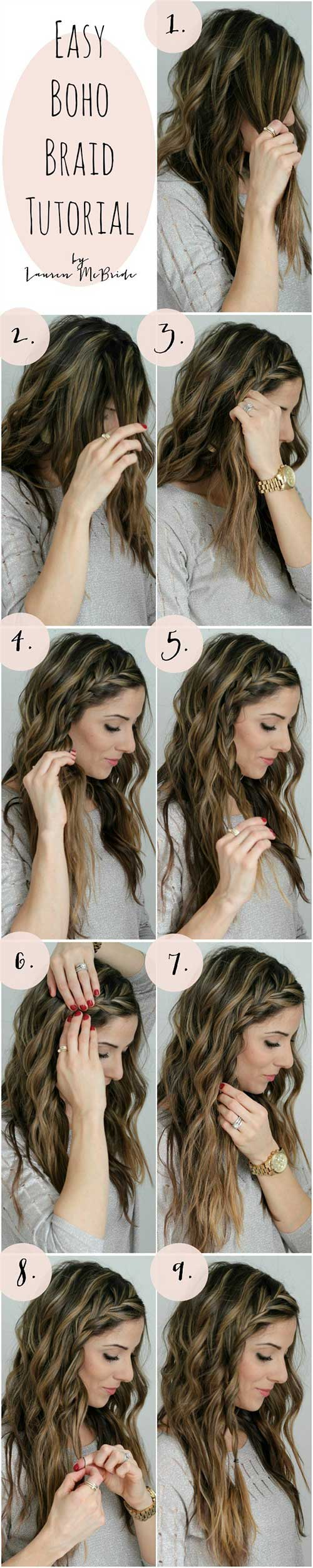Amazing 7. Easy Boho Braid