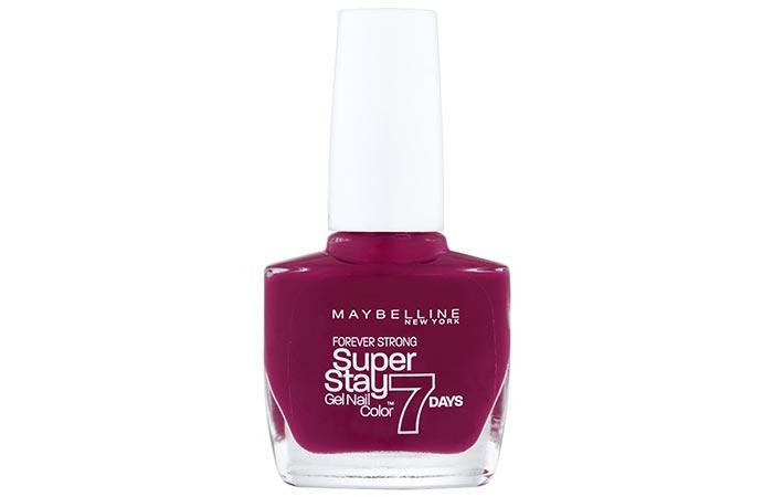 9. Maybelline New York Nail Polish, 265 Divine Wine