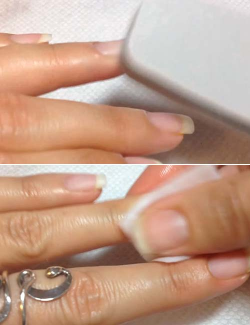 How To Do French Manicure - Prep Your Nails