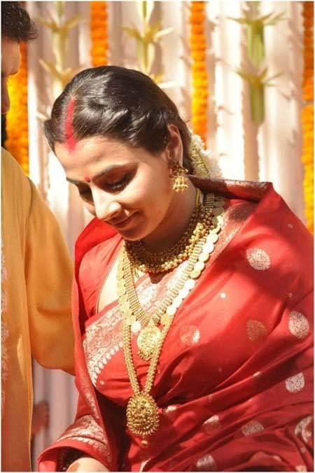 Vidya Balan's Wedding Look