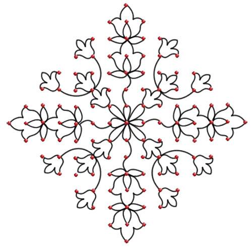 dot rangoli patterns