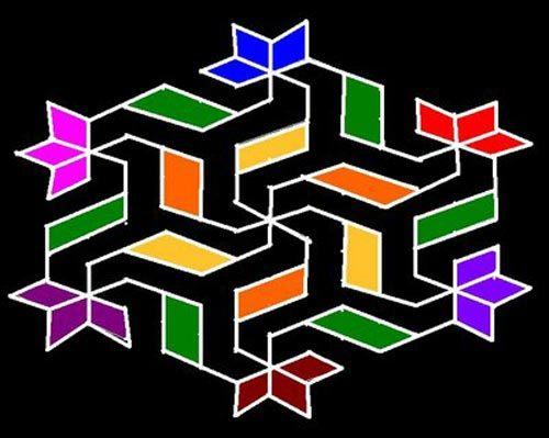 dots rangoli easy designs