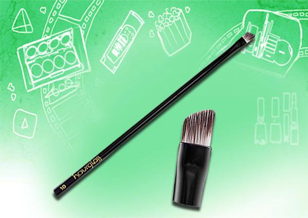 flat angled brush