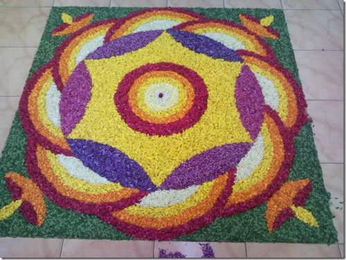 flower rangoli designs for diwali