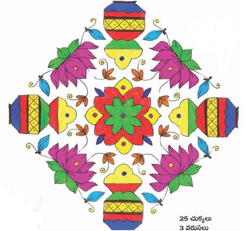 rangoli designs for pongal
