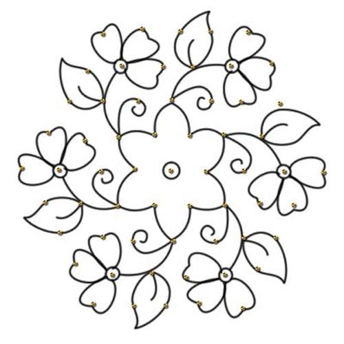 rangoli designs with dots for beginners