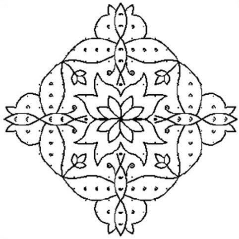 rangoli patterns to colour ks2