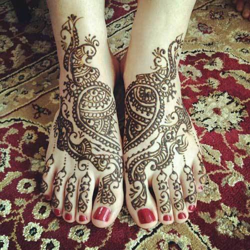 wedding mehndi designs for legs