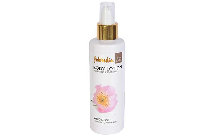 Best Body Lotions For Dry Skin - Fabindia Wild Rose Body Lotion