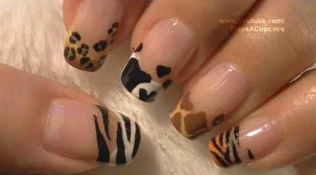 animal prints nail art