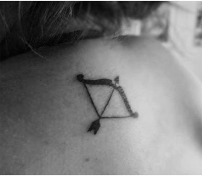 bow and arrow tattoo