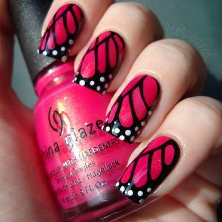 butterfly nail art designs