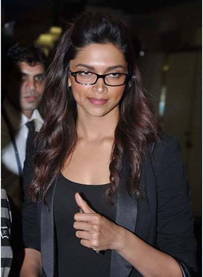 Deepika Padukone with Black Top