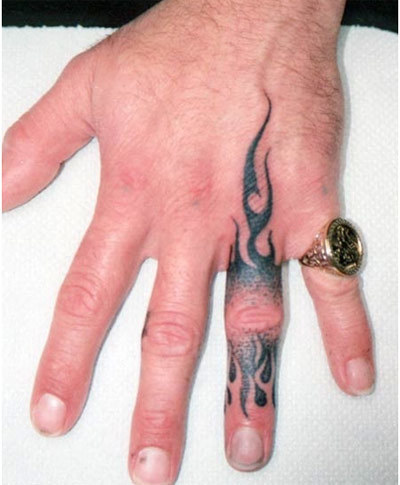 fire tattoos on arms