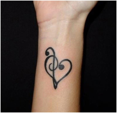 love symbol tattoo