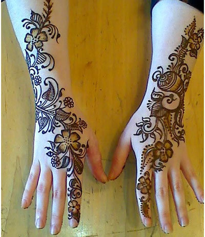 Celebaraty Beauty Tips 2015 Floral Mehndi Designs For Hands