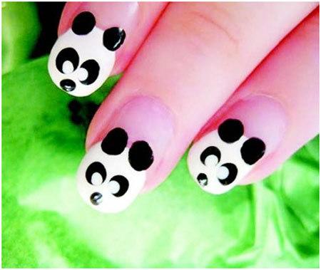 panda nail art designs