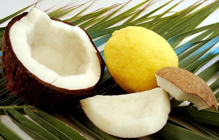 1. Coconut Milk And Lemon Juice For Hair Straightening