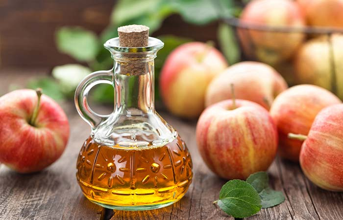 10. Apple Cider Vinegar For Hair Straightening