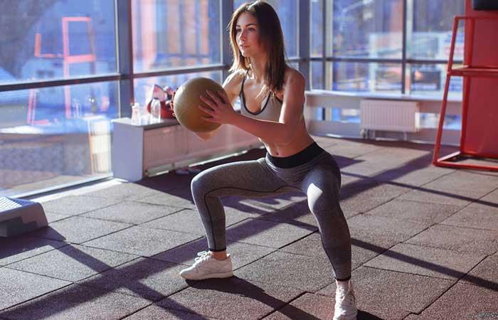 Medicine Ball Exercises - Medicine Ball Sumo Squat