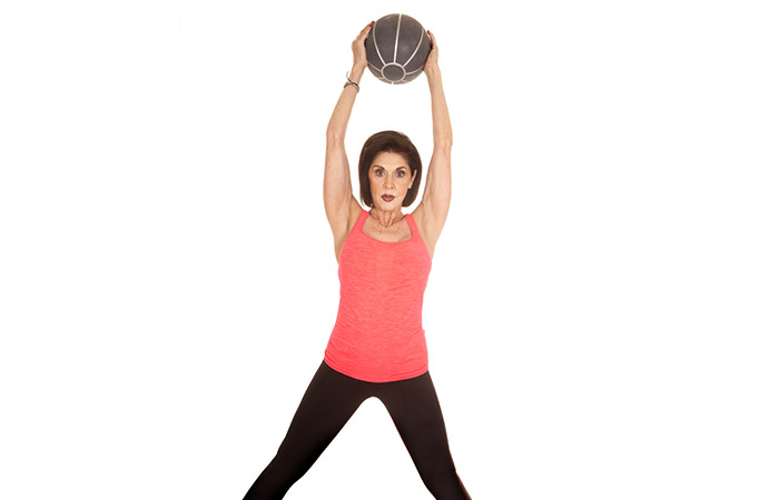 Medicine Ball Exercises For The Arms And Shoulders - Shoulder Press
