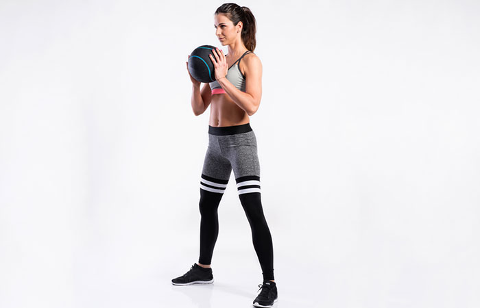 Medicine Ball Exercises For The Arms And Shoulders - Medicine Ball Bicep Curl