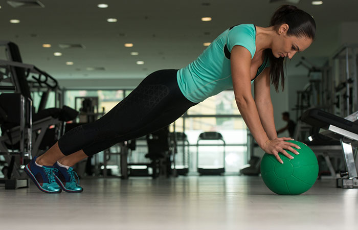 Medicine Ball Exercises For The Chest And Back - Medicine Ball Push-Up
