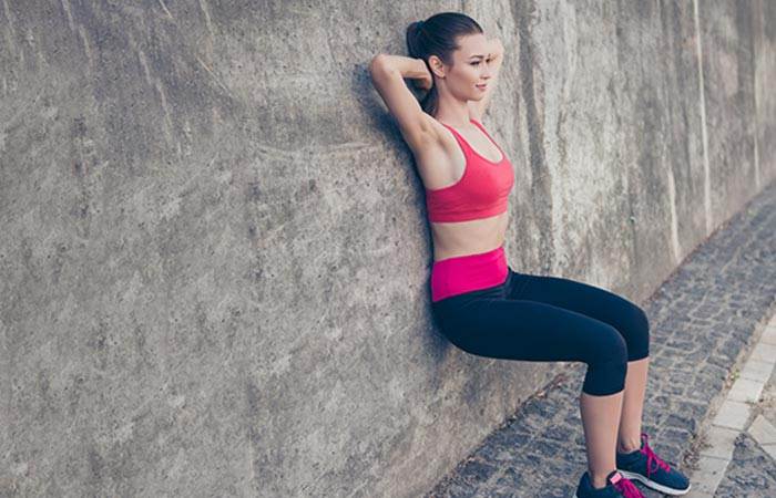 Isometric Exercises For The Legs - Wall Sit