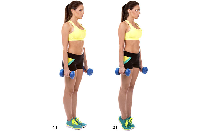 Isometric Exercises For The Legs - Weighted Calf Raises
