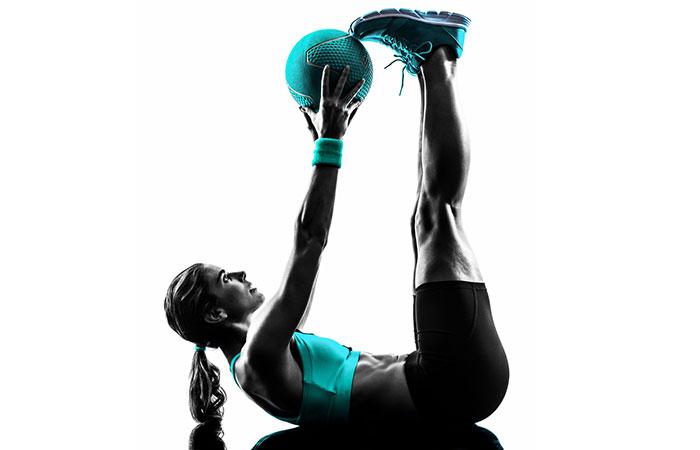Medicine Ball Exercises - Medicine Ball Crunch