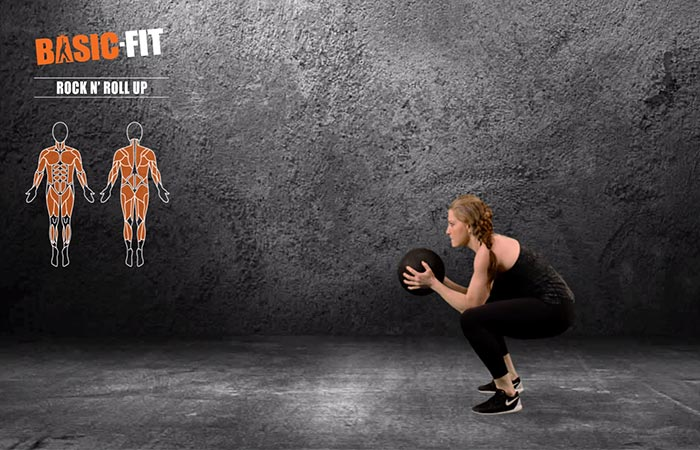 Medicine Ball Full-Body Exercises - Rock And Roll Up