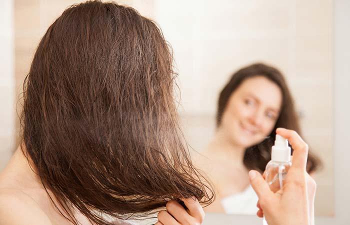 3. Milk Spray For Hair Straightening
