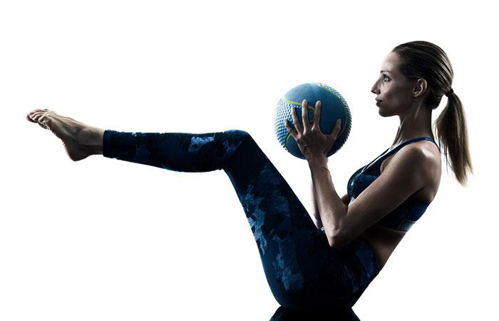 Medicine Ball Exercises - V-Up