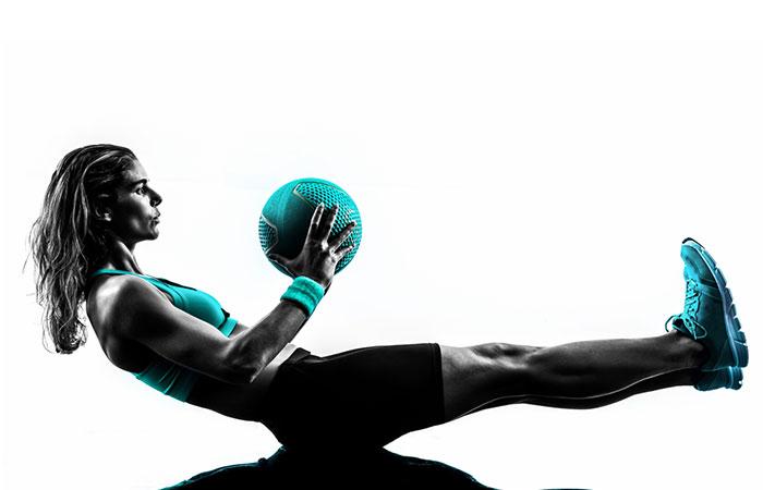 Medicine Ball Exercises - Straight Leg Sit-Up