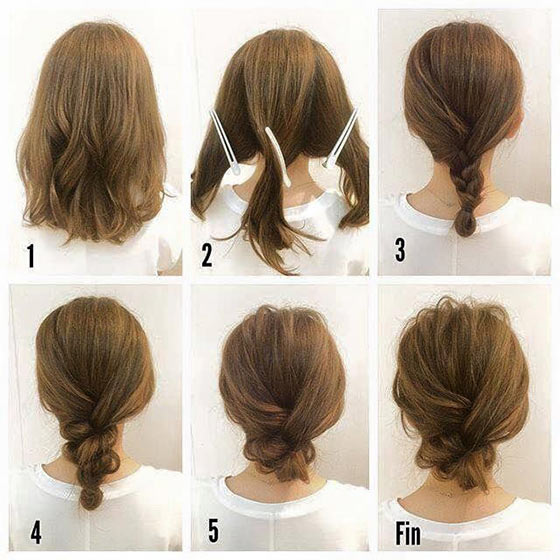 40 quick and easy updos for medium hair 13 loose low bun solutioingenieria Images