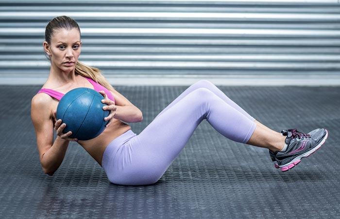 Medicine Ball Exercises - Medicine Ball Russian Twist