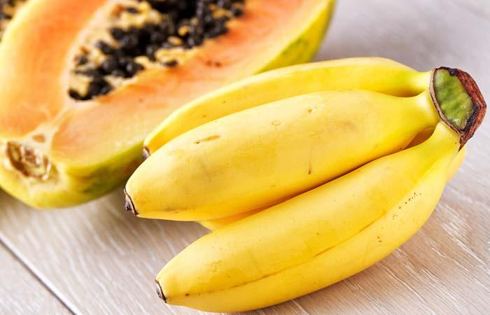 7. Banana And Papaya Mask For Hair Straightening