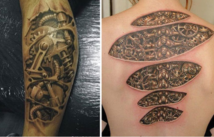 Awesome Biomechanical Tattoo Designs Pinit