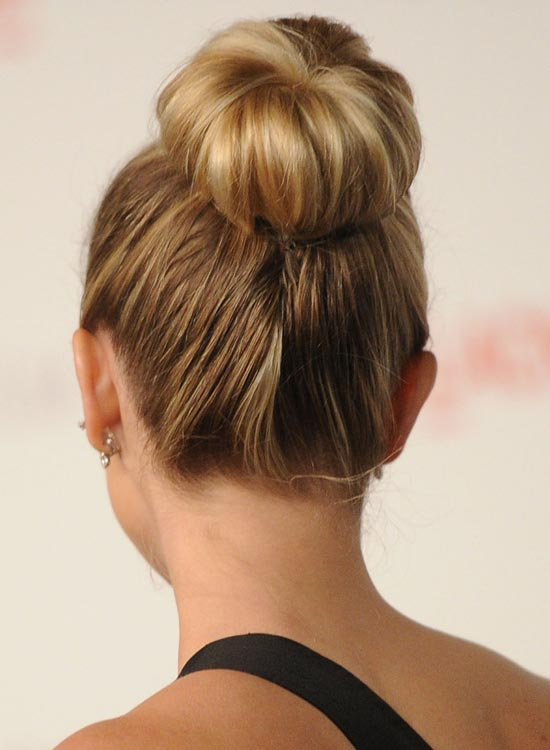 Bun Hairstyles For Long Hair   Easy High Donut Bun Pinit