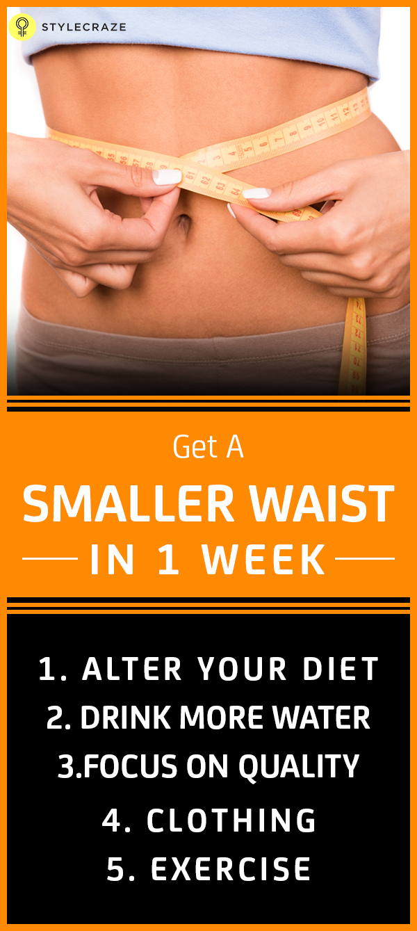 Get a smaller waist in 1 week